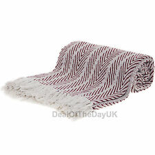 Large Cotton Sofa Throws Single Double Bed Throw Arm Chair Covers