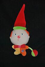 Peluche Doudou Clown Lutin COROLLE Orange Jaune Etoile Bonnet Grelot 14 cm TTBE
