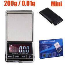 Mini 200g 0.01g Grain Carat Ounce Digital Jewelry Scale Weight Electronic Pocket
