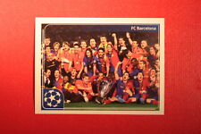 PANINI CHAMPIONS LEAGUE 2011/12 N 554 BARCELONA VICTORY WITH BLACK BACK MINT!!