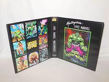 Custom Made 1992 Marvel Masterpieces Series 1 Card Binder Graphics Only Hulk