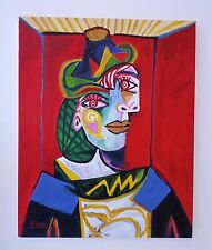"Pablo Picasso - Rare Oil Painting ""WOMAN in a HAIRNET"""