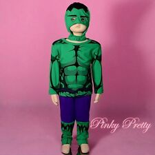 Hero Incredible Hulk Avenger Fancy Costume Outfit Party Halloween Child 3-4y 033