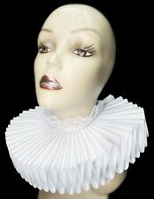 Big White Satin Lace Ruffled Collar White Rabbit Steampunk Elizabethan Victorian