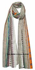 Indian Handmade Paisley Hand Block Printed Scarf Wrap Ladies Shawl Girls Large