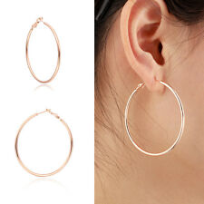 """Simple Womens Fashion 18K Rose Gold Filled Round Hoop Earrings Jewelry 2.06"""""""