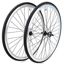 EighthInch Amelia Track Fixed Gear Wheelset w/Tires Front & Rear // Silver