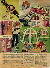 1976 ADVERTISEMENT Doll Bionic Woman Dome House Repair Station Wrist Radio