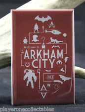 Welcome to Arkham City - Fridge / Locker Magnet. Batman Joker Catwoman