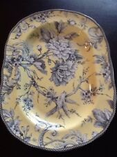 222Fifth Adelaide Yellow Bird Oval 14 Inch Serving Platter