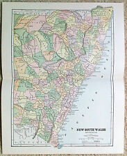 Original 1887 Map of Eastern New South Wales by Phillips & Hunt