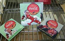 COCA COLA 5 pc WWII design AVIATOR AIRPLANE COASTER SET w/ 3 D CADDY HOLDER new