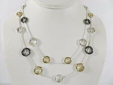 Nine West Women's Mixed Metal Rings Double-strand Short Necklace