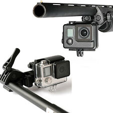 Rifle Fishing Rod Bow Archery Clip Mount Sportsman for GoPro 2 3 3+ 4 5 Camera