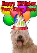 Soft Coated Wheaten Terrier  Dog Party C Birthday A5 Personalised Greeting card