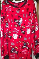 Disney's Mickey & Minnie Mouse Let It Snow Footed Pajamas S or XXL LAST ONE NEW