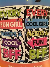 "JUSTICE BEACH TOWEL FOR TWO ""EVERY FUN/COOL GIRL NEEDS A COOL/FUN BFF!!!"