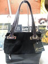 BRAND NEW B. MAKOWSKY HAND BAG COLLINS  TOTE SUPPLE/ SUEDE LEATHER BLACK $288