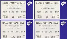 SHIRLEY BASSEY - THE ROYAL FESTIVAL HALL 2000 - 10 USED TICKETS