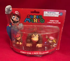 SUPER MARIO DONKEY KONG 3 PACK FIGURE COLLECTION BIRTHDAY PARTY TOY GIFT