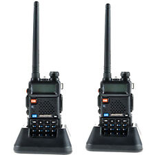 2 Pcs Baofeng Original UV-5R UHF CTCSS Portable FM Two-way Radio Walkie Talkie