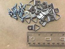 "Picture Frame Triangle Strap D-Ring Hangers (Small) 100/pk with #6 x 3/8"" Screws"