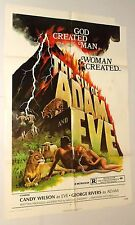 THE SIN OF ADAM AND EVE 1972 MOVIE POSTER one sheet SEXPLOITATION Jorge Rivero