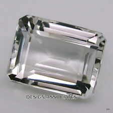 WHITE TOPAZ  SPARKLING 10X8 EMERALD CUT AAA ALL NATURAL