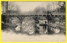 cpa Dos 1900 DAMMARTIN sur TIGEAUX (Seine et Marne) Le Pont de Coudes Animée