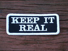KEEP IT REAL Biker Vest Motorcycle Patch