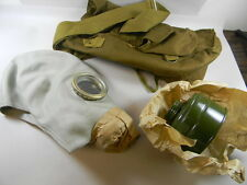 RUSSIAN GAS MASK WITH  FILTERS AND CARRYING POUCH.