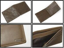 NWT COACH Signature Embossed Leather Double Bifold Men's Wallet 74078 w/receipt