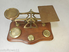 Antique Brass  Scales + Weights  , Postal Scales , Letter Scales 1789