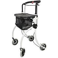 Roomba lightweight folding Indoor Rollator walking frame with tray and bag