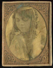 RARE 1/2 PLATE Photos on parchment MATED NUDE FREBCH C1890