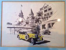 1930 Hotel Del Coronado Ca Patrick Kelly Framed Print Ruxton Phantom 85 Hot Rod
