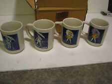 SET 4 UMBRELLA GIRL MORTON SALT PROMO ADVERTISING CUPS MUG NEW IN BOX