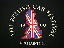 Vintage British Car Festival Show Des Plaines IL UK Flag England 90's T Shirt M