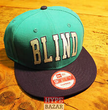 BLIND SKATEBOARDS NEW ERA SNAPBACK CAP NEU FARBE:TÜRKIS BLIND SKATEBOARDS