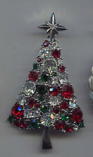 KARU BEAUTIFUL CHRISTMAS TREE PIN silver