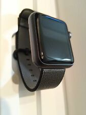 Apple Watch MMFR2LL/A  42mm Aluminum SPACE GRAY case w/ BLACK WOVEN NYLON Band