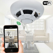 HD WiFi P2P IP Camera Spy Hidden Smoke Detector DVR Cam for CCTV Home Security
