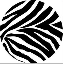 POLKA DOTS CIRCLES Zebra animal print big black wall stickers 4 decals teen dorm