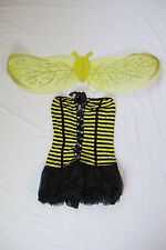 Sexy Cute Bee Honeybee Halloween Costume with Wings Bumblebee Women Adult NEW