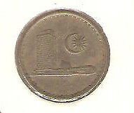Offer  Malaysia Parliament 1967  5sen  coin high grade!