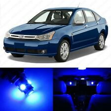 6 x Ultra Blue LED Interior Light Package For 2008 - 2011 Ford Focus