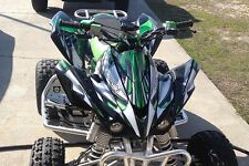 kfx450r graphics KFX 450R 450 R Kawasaki custom sticker kit #4444 Green Tribal
