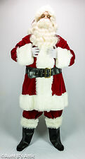 Santa Claus Suit Deluxe Burgundy Velveteen 6 Pc Coat Pt. Hat Boot Tops Belt XXL
