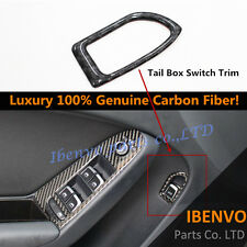 Genuine Carbon Fiber Interior Rear Trunk Switch Cover For 09-13 Audi B8 A4 A5 S4
