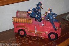NIB Vandor/Licensed THE THREE STOOGES Fire Engine/Truck LE Cookie Jar #2710